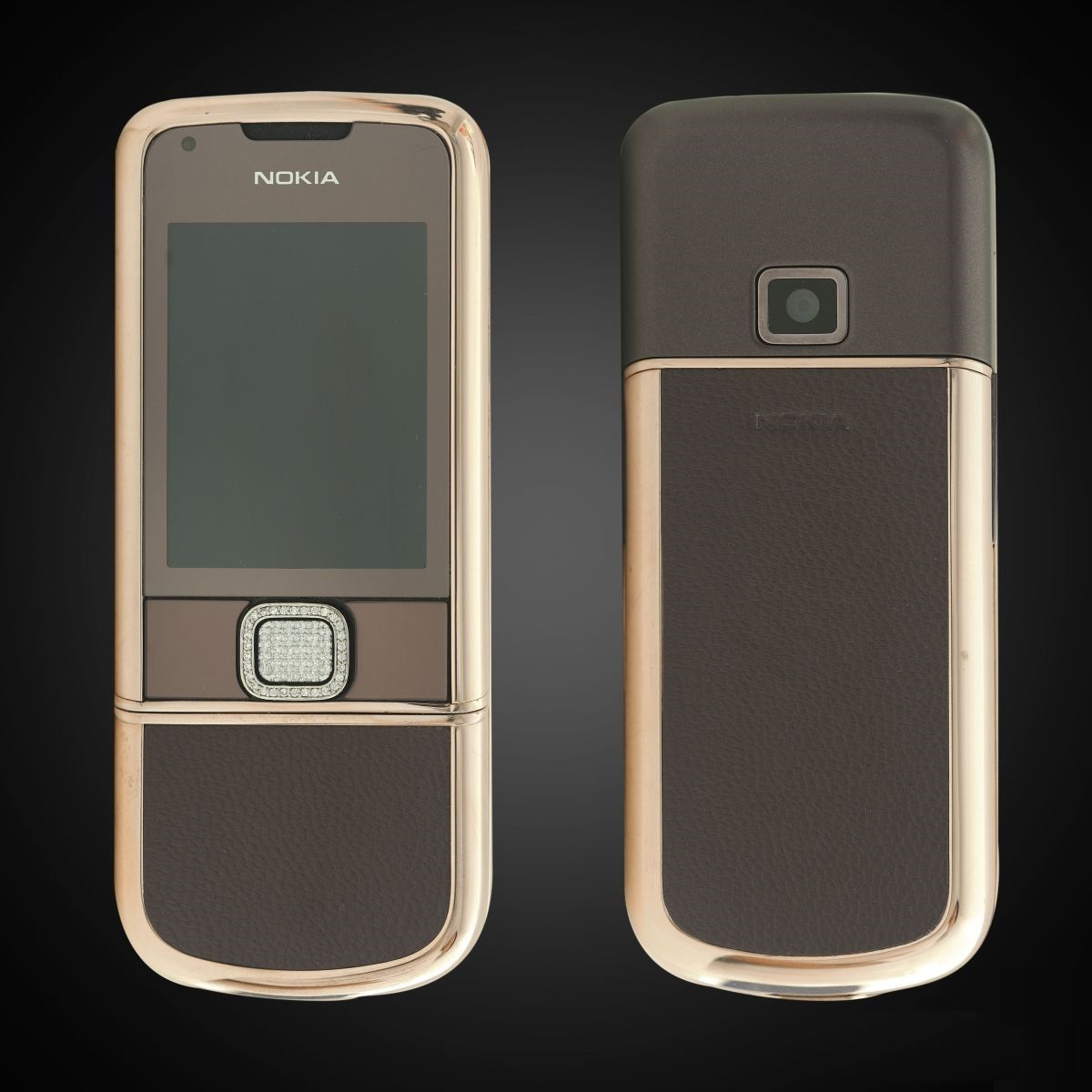 Nokia 8800 Rose Gold Da Nâu Đính Đá