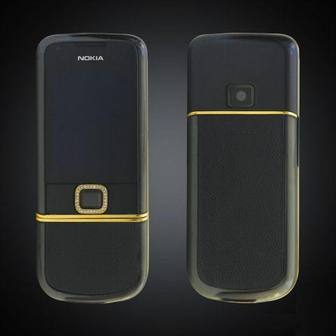 Nokia 8800E Sapphire Black điểm vàng đính đá