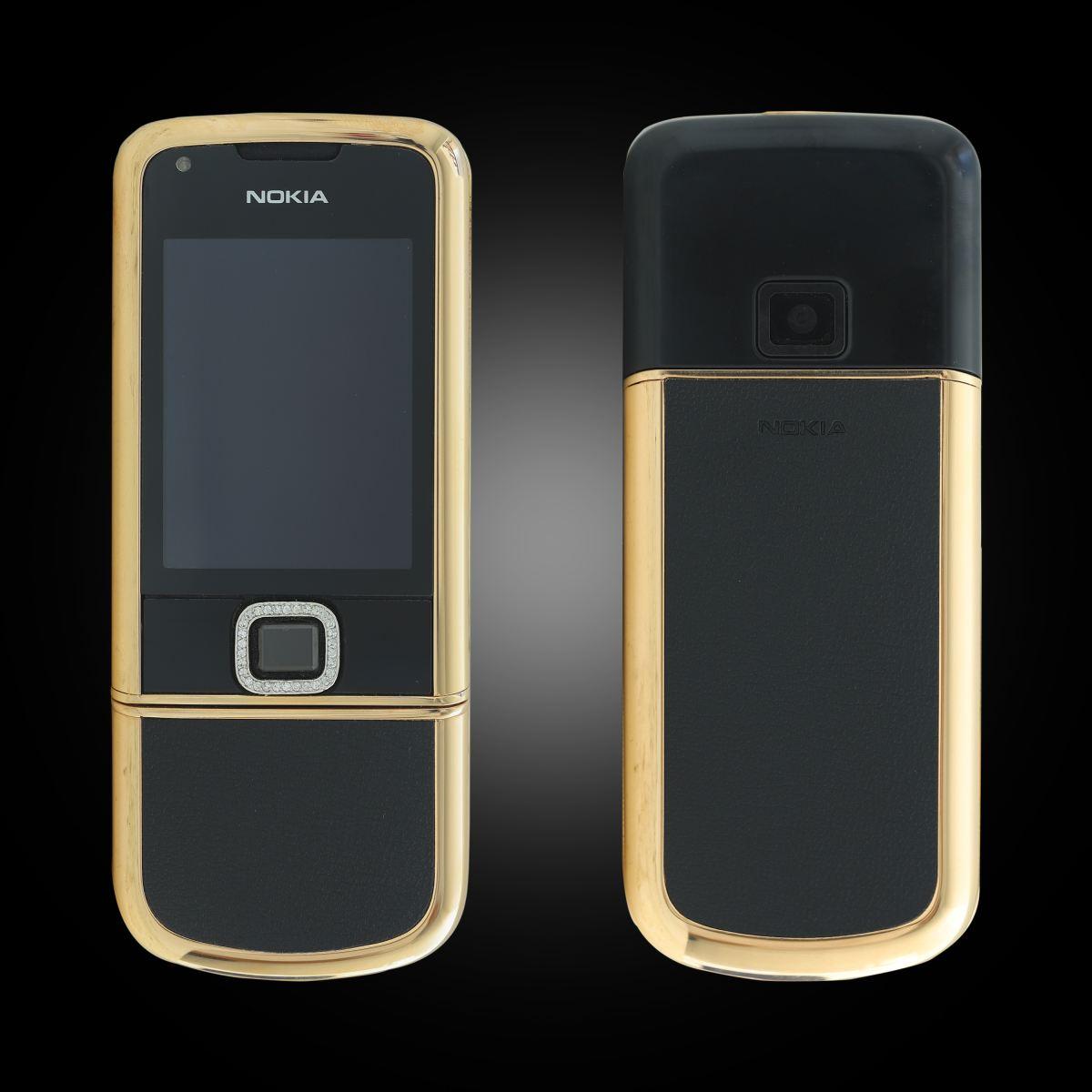 Nokia 8800 vàng hồng điểm đá da đen