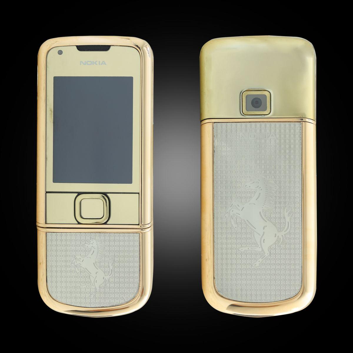 Nokia 8800 vàng hồng kham ngựa trắng